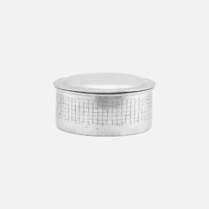 NOOVA tárolóedény fedéllel, alumínium, kör, kicsi